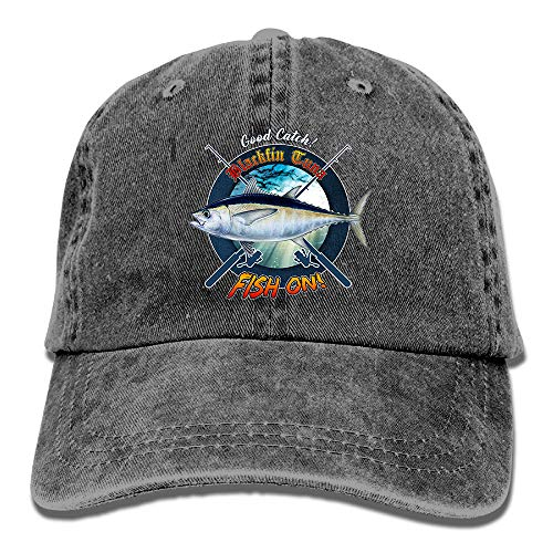 Adult Fishing Baseball Dad Hat Printed Blackfin Tuna Fish Design