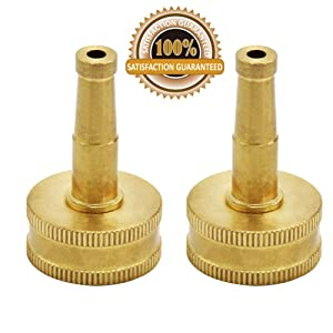 Twinkle Star Brass Jet Sweeper Sprayer Nozzle, 2 Pack, TWIS3431