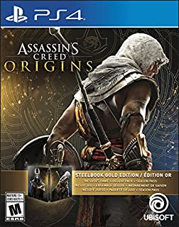 Assassins Creed Origins Gold Edition (Includes Steelbook + Extra Content + Season Pass subscription) - PlayStation 4 (B071JMCSMW) | Amazon Products