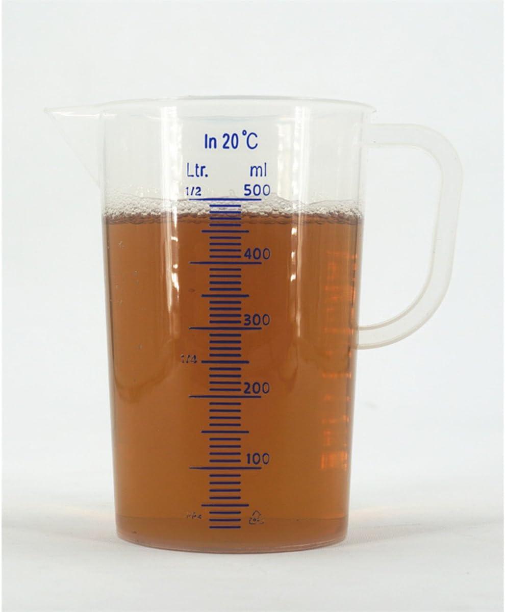 herf Messbecher f/ür 250/ml 1000/ml 2000/ml 250 ml durchsichtig 500/ml
