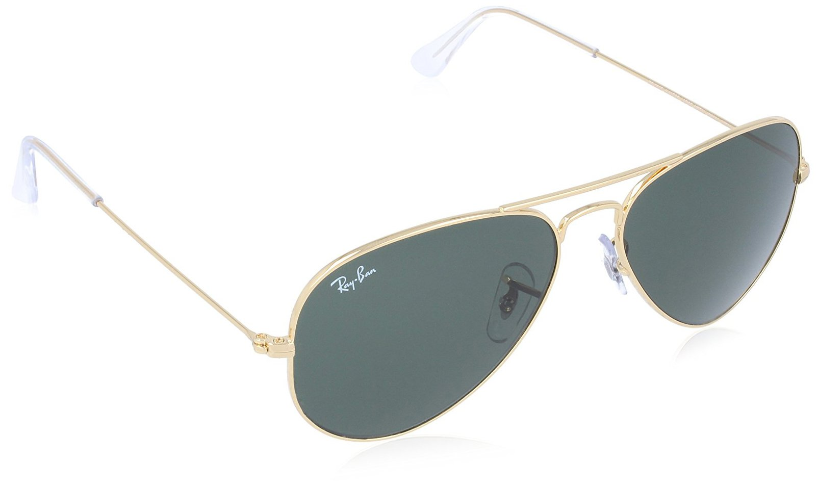 Ray-Ban Men's Large Metal Aviator Sunglasses, Gold, 55 mm