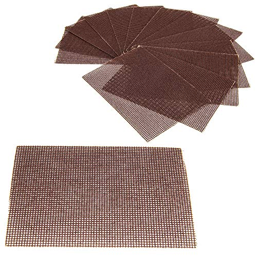 ([40 Pack] Grill Cleaning Screens - Griddle Scraping Cleaner Mesh, Commercial Grade Heavy Duty, Removal of Tough Stain on BBQ Grills, Cooktops and Stove Tops for Restaurant, Bars and Home Use)