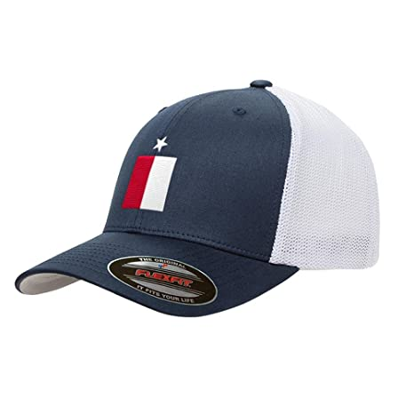 Amazon.com  Navy Texas Flag Mesh Snapback Yupoong Adult Retro ... a319f7a70d4