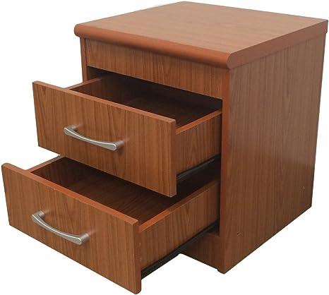 Amazon Com Hodedah 2 Drawer Nightstand Cherry Furniture Decor