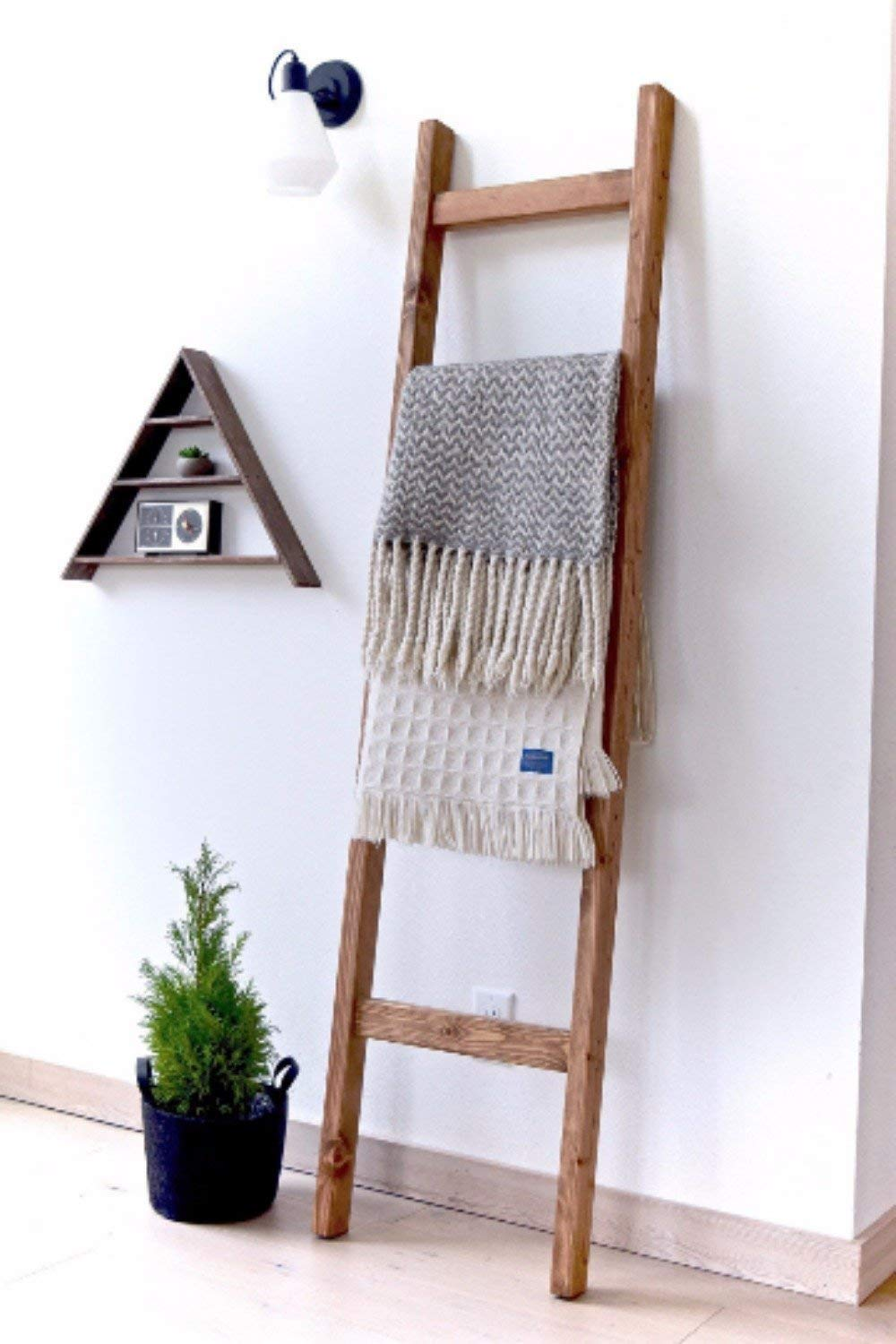 6 ft Wooden Decorative Modern Farmhouse Blanket Ladder | Early American