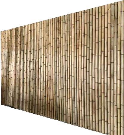 Pantalla De Privacidad Cerca De Jardín Pantalla De Bambú Planta Trepadora A Prueba De Viento Anti-UV Conexión por Medio De Cables Paisaje Natural, Borde del Césped Apto para Balcón Y Piscina: Amazon.es:
