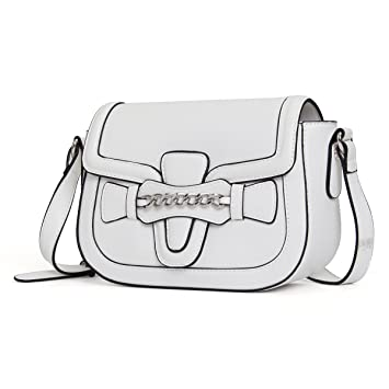 5397fd37ff99 Amazon.com: Kadell Women Leather Messenger Bag Crossbody Chain ...