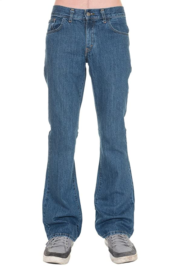 Women's 1960s Style Pants 60s 70s Retro Vintage Stonewash Denim Boot Cut Flares $47.95 AT vintagedancer.com