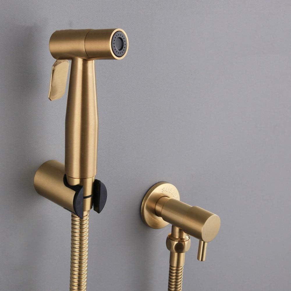 bidet en cuivre dor/é JINGMAN Robinet de bidet de toilette Antique bross/é or Douche /à main Bidet pulv/érisateur robinet de bain en acier inoxydable Jet Set pomme de douche