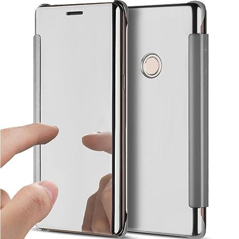 YSIMEE Funda Huawei P8 Lite 2017,Carcasa Clear View Cover ...