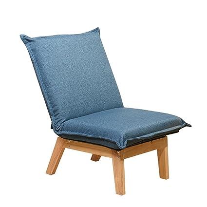 f6f06b840e48d Amazon.com: JUNZH Single Lazy Chair Lounge Chair Solid Wood Folding ...