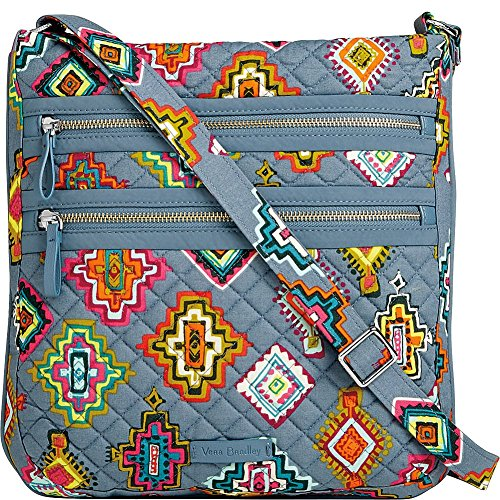(Vera Bradley Women's Iconic Triple Zip Hipster Painted Medallions One Size)