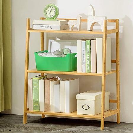 Bambú Repisa escalera Estantería de bambú,Montaje fácil Librería anaquel Estantes de madera abiertos Espesado Estante del almacenaje Multifuncional Para hogar u oficina-A 70x35x85cm(28x14x33inch): Amazon.es: Hogar