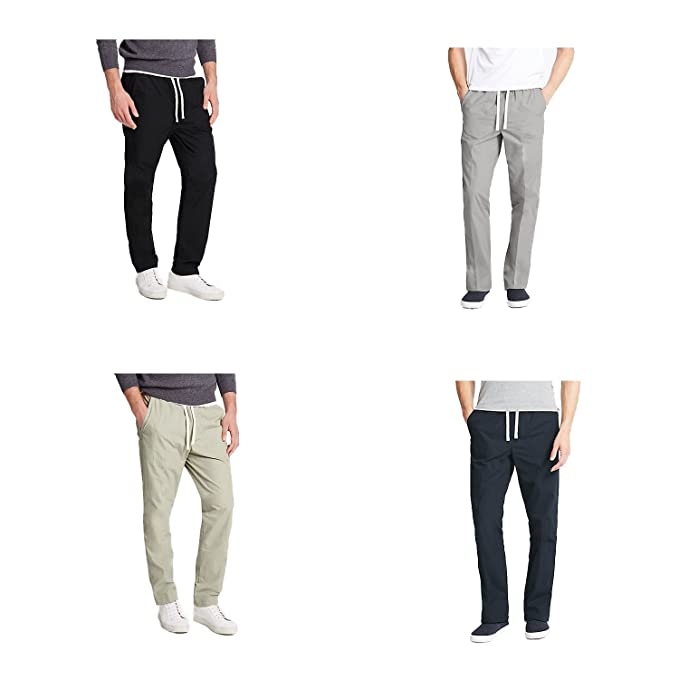 check out fashionablestyle new Marks and Spencer EX M&S Pure Cotton Adjustable Waist Trekking/Rugby  Trousers