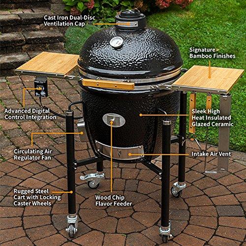 BBQ Guru Ceramic Grill with Digital DigiQ Temperature Control - Most Hi-Tech Charcoal Grill