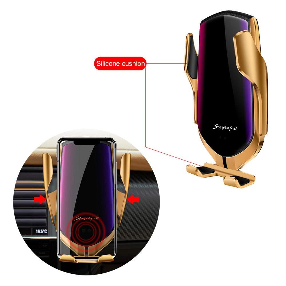 10W per Galaxy Note 9//S9//S8//Note 8 Qi Caricabatterie Ricarica Rapida Adatto Supporto 7.5W per iPhone XR//XS//XS//Max//X//8//8 Plus Hinyx Caricatore Wireless Auto 5W per Huawei Mate 20 Pro