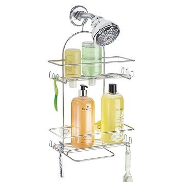 mdesign duschablage zum hngen duschregal ohne bohren montieren duschkorb zum hngen aus metall - Duschzubehor Zum Hangen