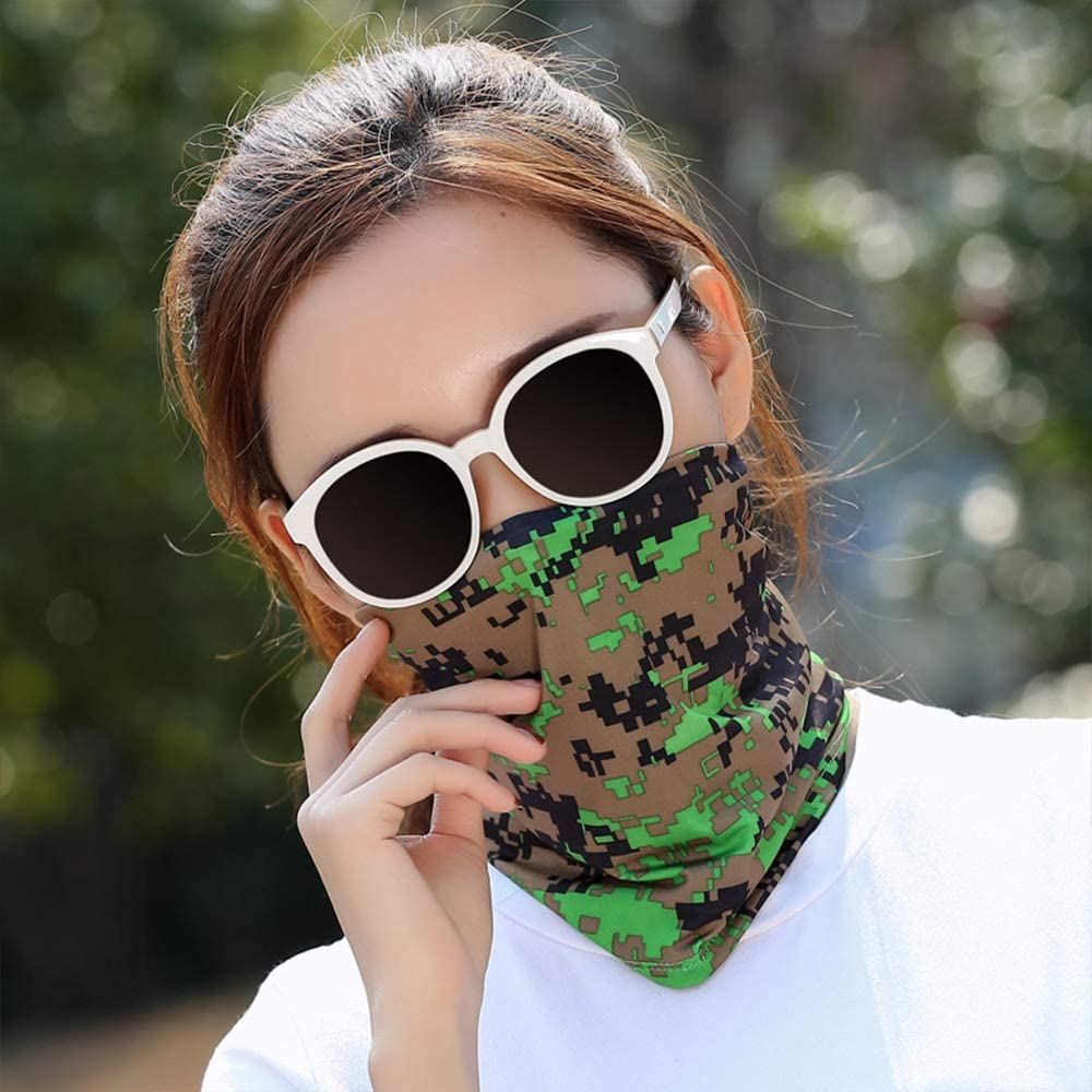 QXuan Multifunctional Headwear Neck Tube Scarf Elastic Bandana Summer UV Resistance Face Mask for Running Bicycle Hiking Sport