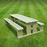 TINWELL PICNIC TABLE - 7FT - GREEN - HEAVY DUTY - HAND MADE IN THE UK - PRESSURE TREATED!!