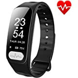 Fitness Tracker, ECG+PPG Heart Rate Monitor with More Accurate HR Smart Wristband Blood Pressure Bracelet Pedometer Activity Tracker Call Remind Sleep Pattern Watch for Android IOS