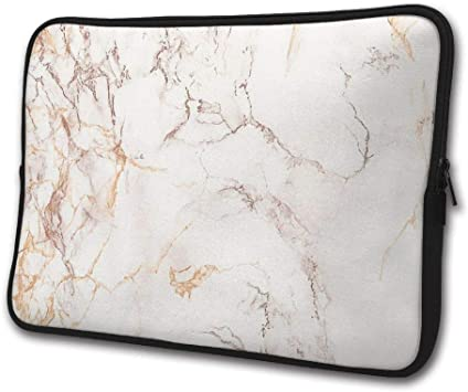 Zipper Sleeve Bag Cover MacBooks Rose Gold Marble Fits Most Laptops