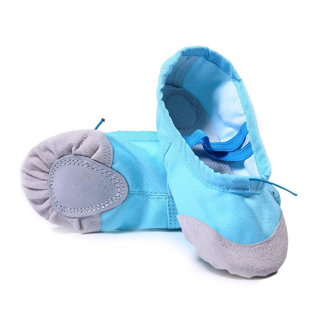 DoGeek Ballettschuhe Weich Spitzenschuhe Ballet Trainings SCHL?ppchen Schuhe f¨¹r M?dchen/Damen in Den Gr??en 24-40(Bitte Bestellen Sie Eine Nummer gr?sser)