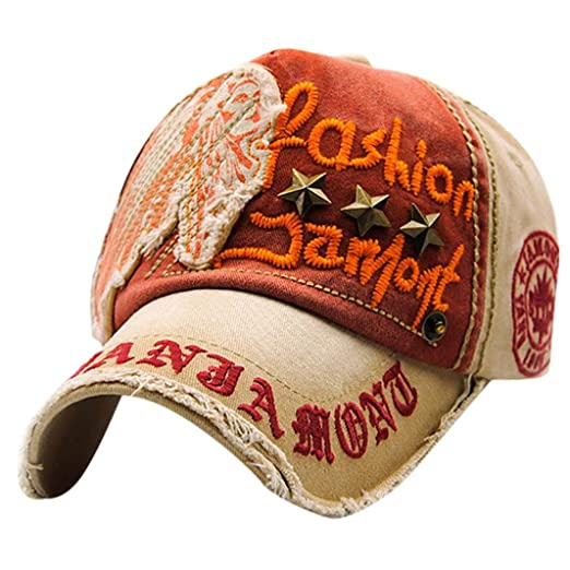 7e257a657313 Image Unavailable. Image not available for. Color  URIBAKE Embroidered  Summer Rivet Cap Hats for Men ...