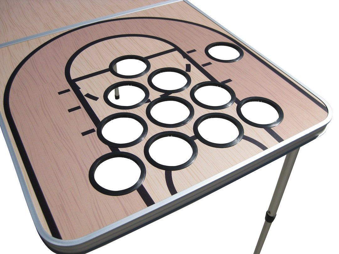 Basketball Beer Pong Table with Holes by Tailgate Pro's