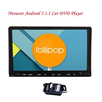 EinCar 7Quad Core Android 5.1 en el tablero de coches reproductor de DVD