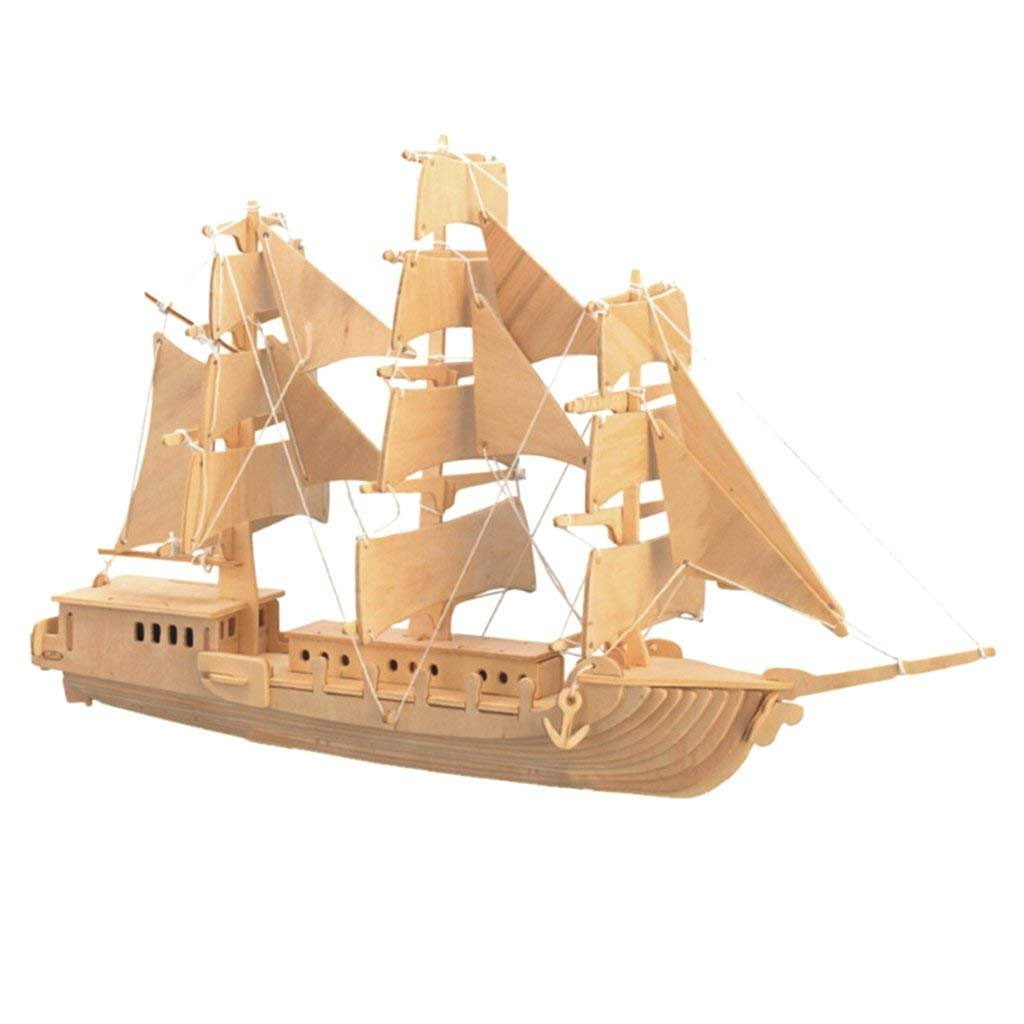 ふるさと納税 インポートDIY B07FPBSS4R 3d木製ジグソーMerchant ShipモデリングConstructionキットパズルToyギフト B07FPBSS4R, COBEAMISHOP:d2e2dbea --- a0267596.xsph.ru