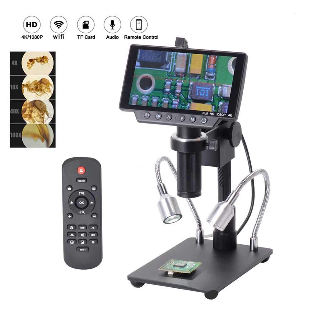 WHYTT Compound Microscope USB 5 inch Screen 1080P Digital Microscope HDMI Microscope for Circuit Board Repair Soldering Tool Instrument Magnification 1000x Volume 23.0 cm 18.0 cm 10.0 cm