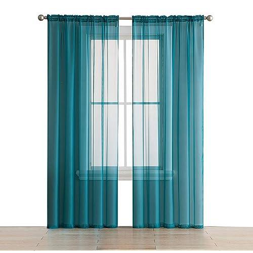 Teal Curtain Panels: Amazon.com