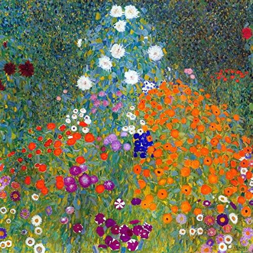 Landscape Garden Flowers by Gustav Klimt Accent Tile Mural Kitchen Bathroom Wall Backsplash Behind Stove Range Sink Splashback One Tile 12