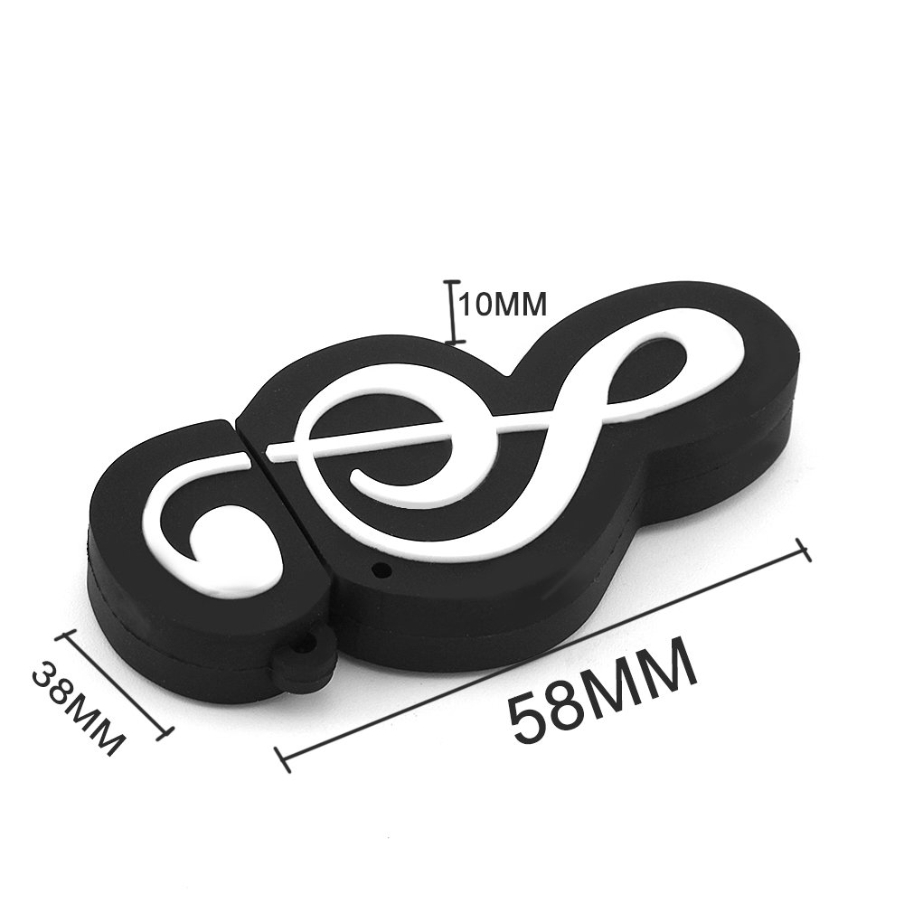 CHUYI Novelty Music Note Shape 32GB USB 2.0 Flash Drive Date Storage Pen Drive Memory Stick Pendrive Thumb Drive U Disk Gift (Black) by CHUYI (Image #3)