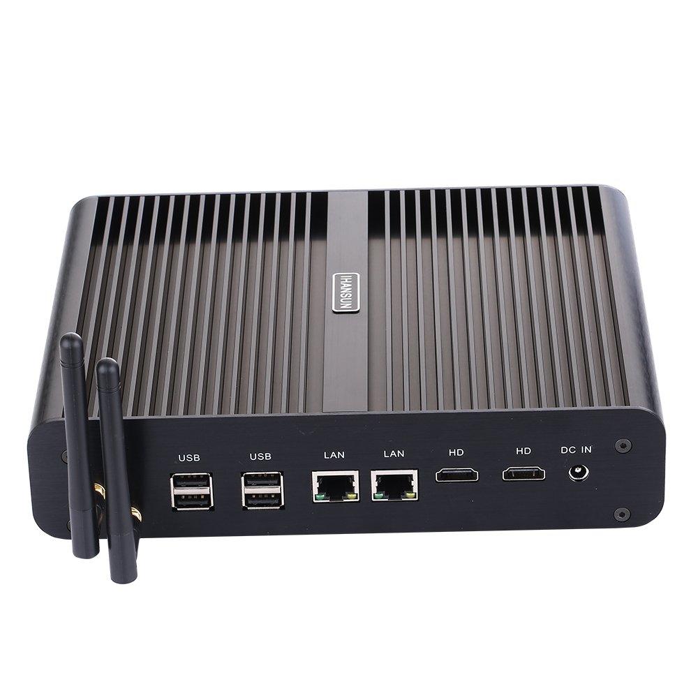 超安い品質 Fanless NO Mini PC,Desktop Computer,with Windows 10 Pro NO/Linux SSD Ubuntu support,Intel Core I7 4650U,(Black),[HUNSN BM02],[2HDMI/2LAN/4USB3.0/4USB2.0/1OpticalL/1Card Reader/WiFi],(4G RAM/64G SSD) B07RBMDPHF 4G RAM NO SSD 4G RAM NO SSD, オリバ:04d1cc8f --- arianechie.dominiotemporario.com