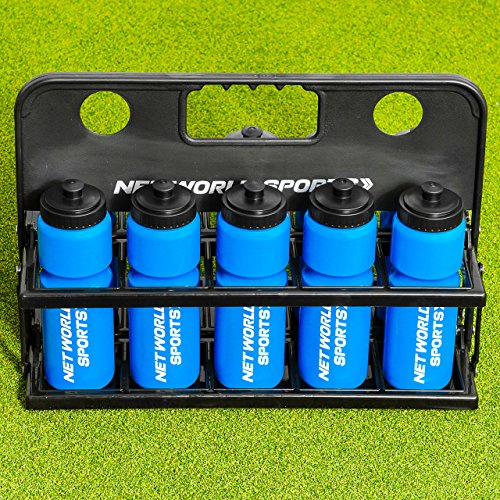 Net World Sports Sports Drink Water Bottle Carrier - with or Without Bottles. Stay hydrated and Perform to Your Best Ability (Carrier & 10 Water Bottles) (Nets Water Bottle)