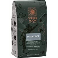 Copper Moon Blast Off Blend, Strong Roast Coffee, Whole Bean, 2 Pound , Blast Off, 2 Lb