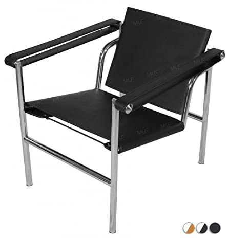 MLFu0026reg; Le Corbusier Style LC1 Basculant Sling Chair In Black Saddle  Leather (2 Colors