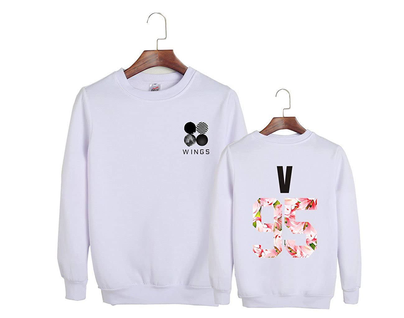 ALLDECOR Kpop Group BangtanBoys BTS V Fans Round Neck Sweatshirt Unisex Hoodies