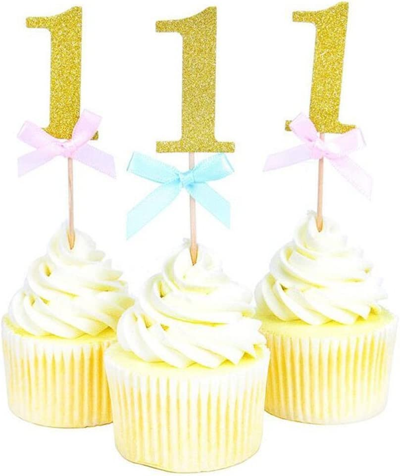 Admirable 20 Pieces First Birthday Cupcake Toppers 1St Boy Girl Birthday Personalised Birthday Cards Veneteletsinfo