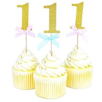 20 Stuck Ersten Geburtstag Cupcake Topper 1 Junge Madchen