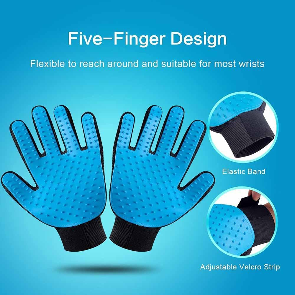 2 Pack Pet Dog Amp Cat Grooming Glove Pet Grooming Gloves