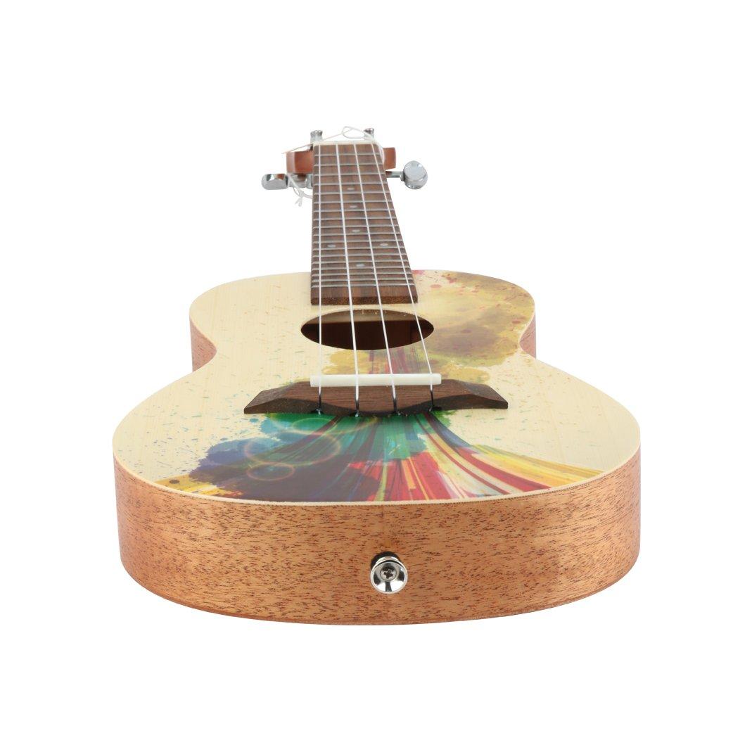 MUSICTOPIA VI VICTORY Ukulele Oil Painting 23 inch Mahogany Aquila string, Beginner Kit (Gig Bag, Picks, Clip-on Tuner)… Straps Picks ,Clip-on Tuner HUK-CA-V23-P2