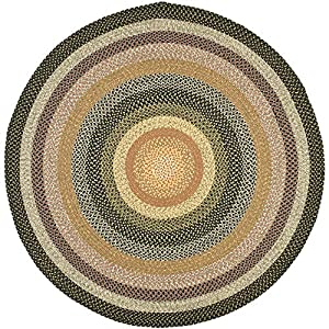 Safavieh Braided Collection BRD308A Hand Woven Blue and Multi Round Area Rug (8' Diameter)