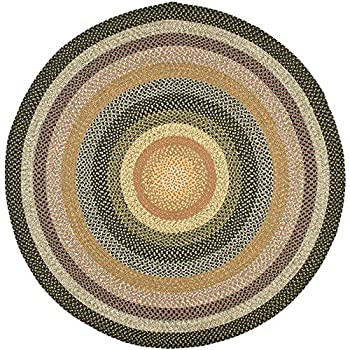 Safavieh Braided Collection BRD308A Hand Woven Blue and Multi Round Area Rug (6 Diameter)