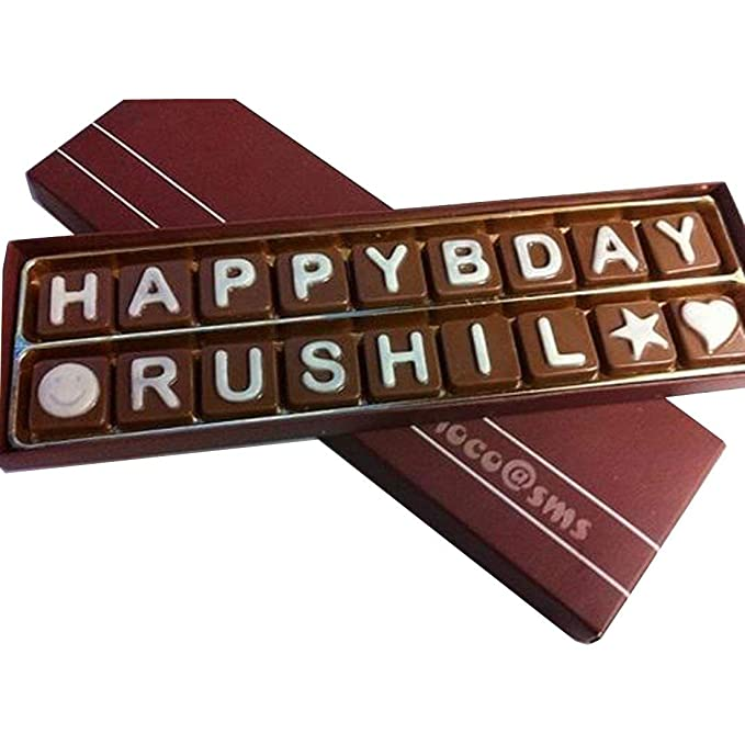 Swankit S Chocolates With Happy Birthday And A Name Message Box