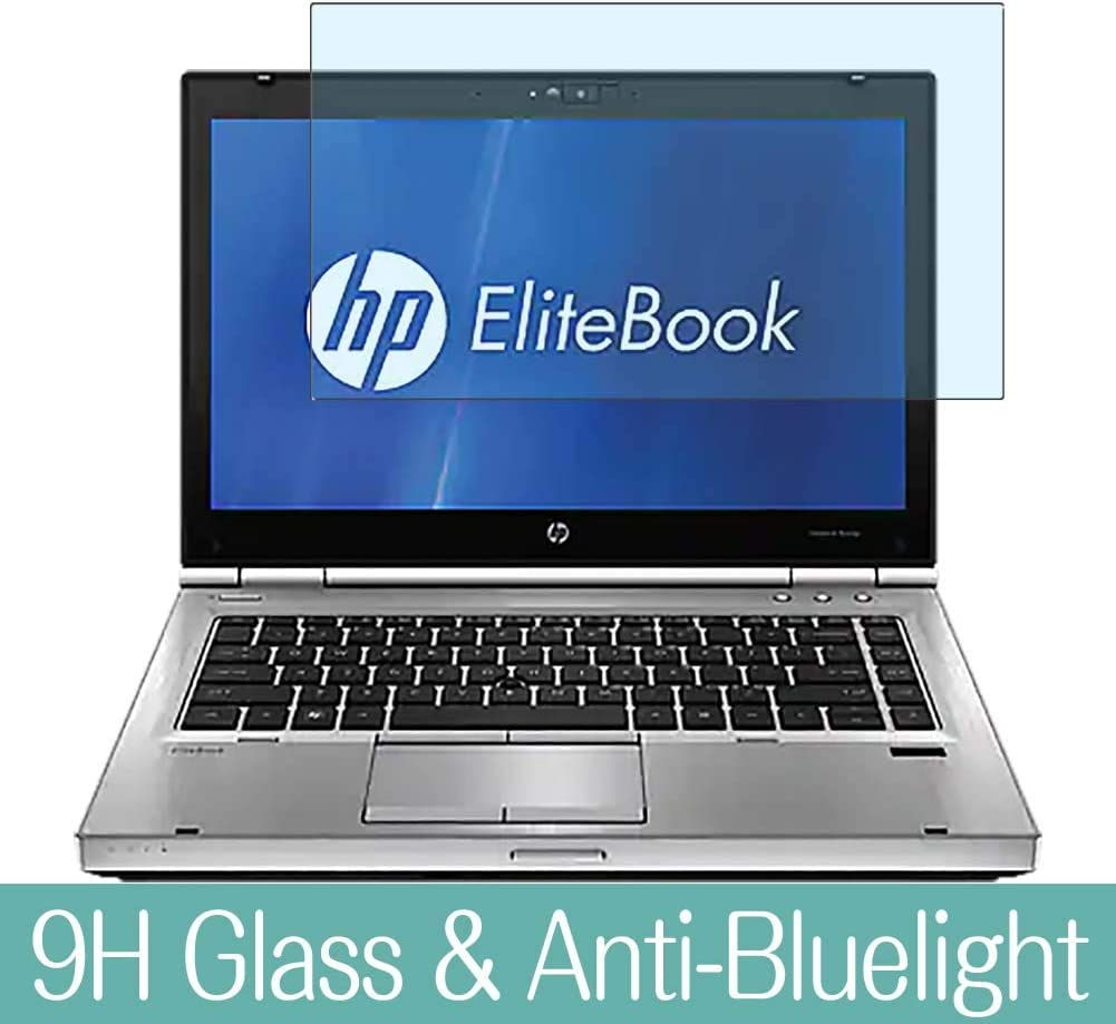 """Synvy Anti Blue Light Tempered Glass Screen Protector for HP EliteBook 8460w 14"""" Visible Area 9H Protective Screen Film Protectors"""