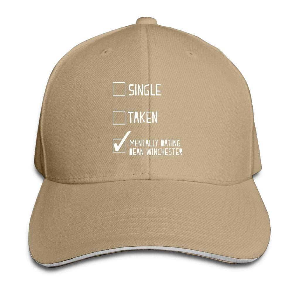 Mentally Dating Dean Winchester Mens Adjustable Cap