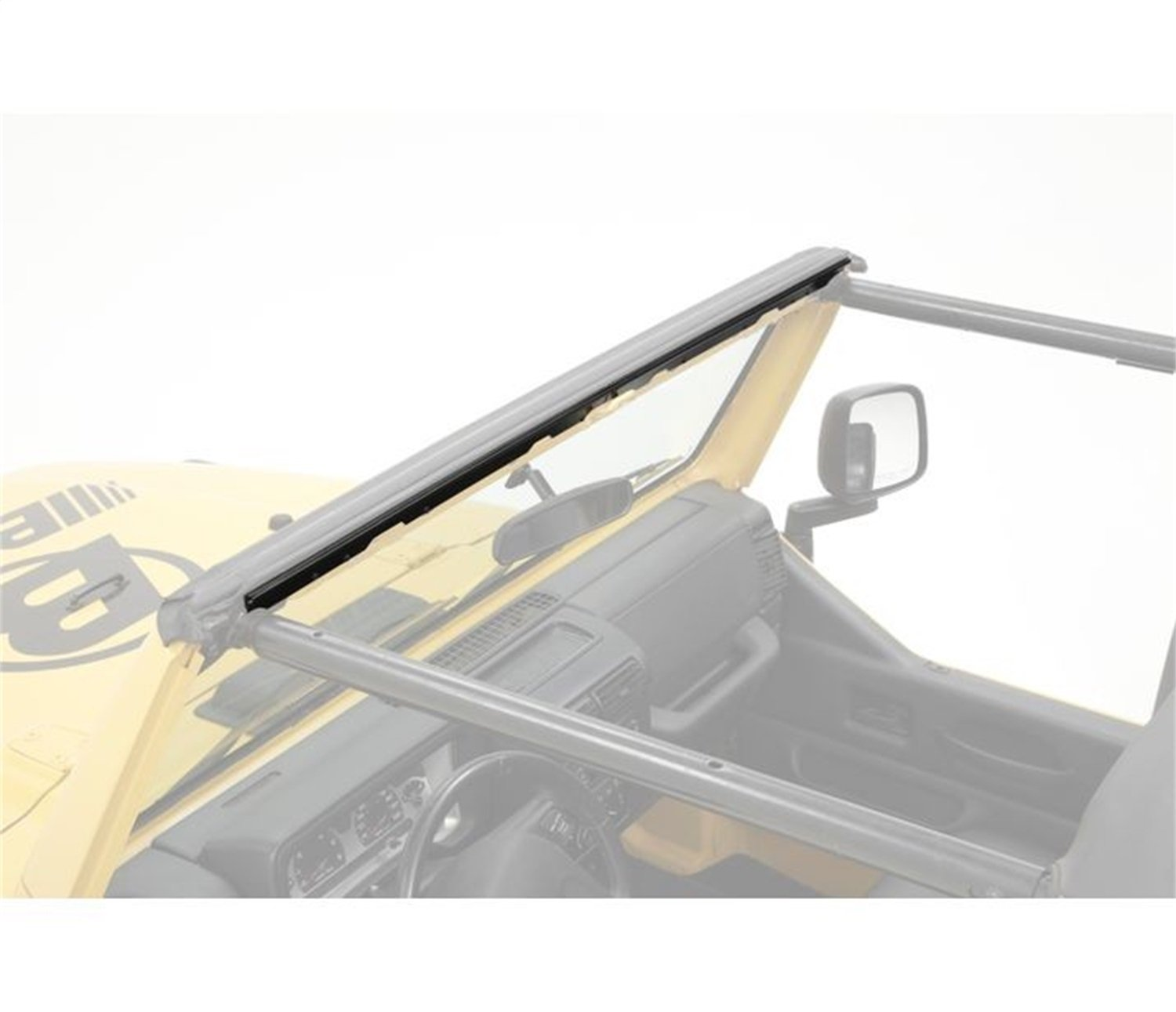 Bestop 51210-01 Black Drill-in Style Windshield Channel for 1997-2002 Wrangler TJ