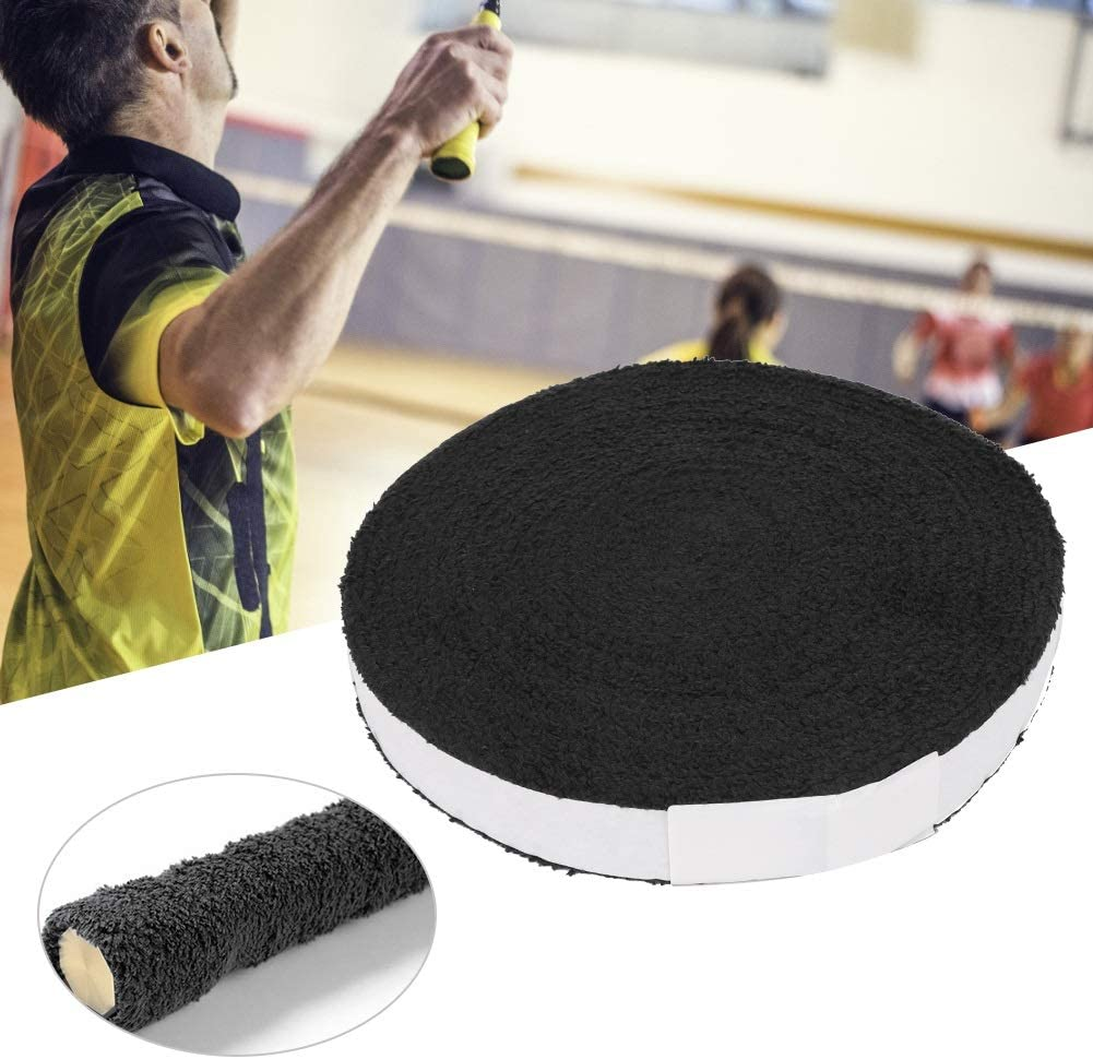 Fiber Sports Tape Heitune Anti-Slip Badminton Racket Big Reel Towel Handle Grip Sweatband Overgrip Grips Tape